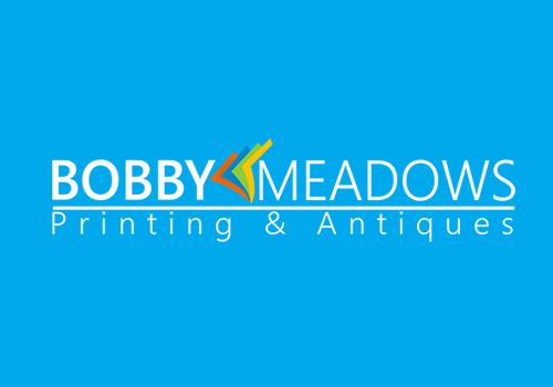 Bobby Meadows Printing and Antiques Logo